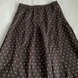 Benetton cotton skirt black/white